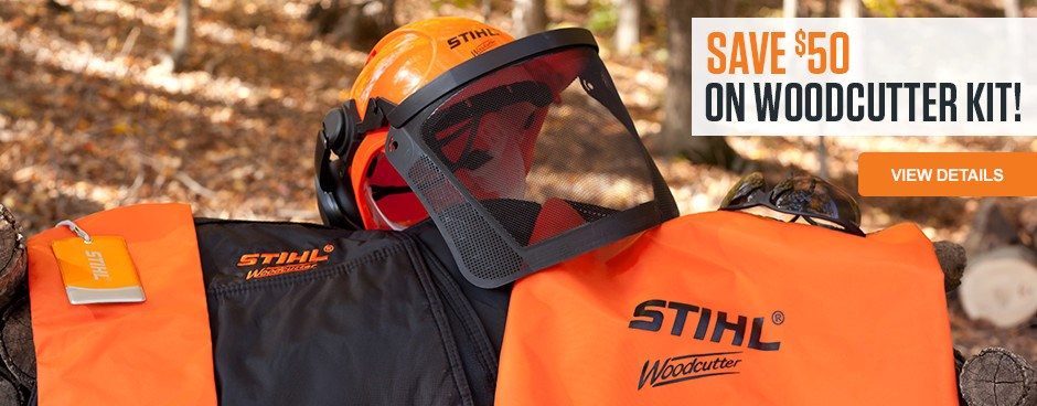 Save $50 on the STIHL Woodcutter Kit